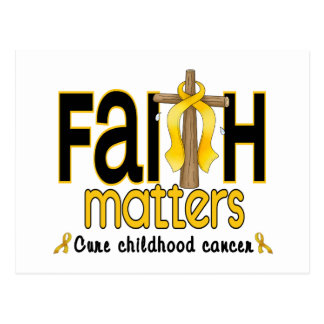 Childhood Cancer Faith Matters Cross 1 Postcard