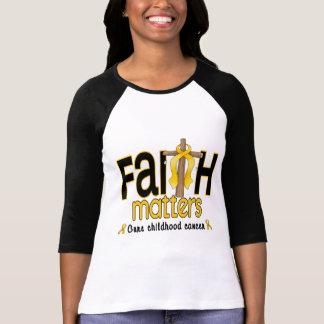 Childhood Cancer Faith Matters Cross 1 T-Shirt