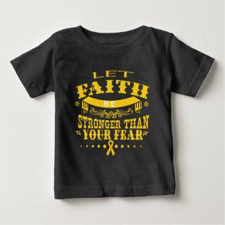Childhood Cancer Faith Stronger than Fear Baby T-Shirt
