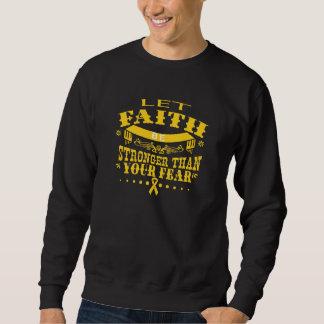 Childhood Cancer Faith Stronger than Fear Sweatshirt