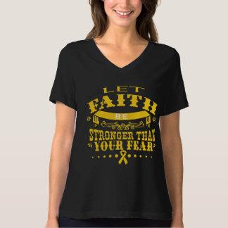 Childhood Cancer Faith Stronger than Fear T-Shirt