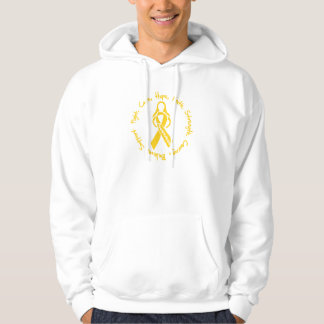 Childhood Cancer Fight Cure Hope Logo Hoodie