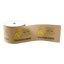 """Childhood Cancer Fight for the Cure 3"""" Grosgrain Ribbon"""