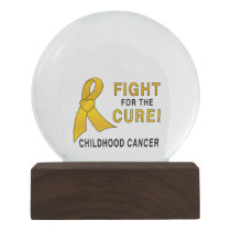 Childhood Cancer Fight for the Cure Snow Globe