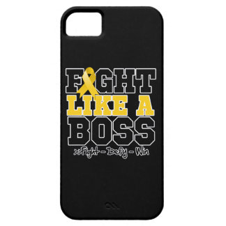 Childhood Cancer Fight Like a Boss iPhone 5 Covers