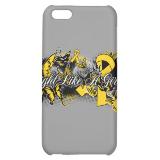 Childhood Cancer Fight Like A Girl Butterfly Case For iPhone 5C