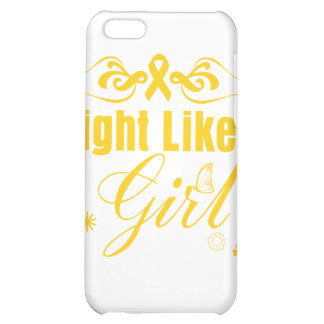 Childhood Cancer Fight Like A Girl Ornate iPhone 5C Case