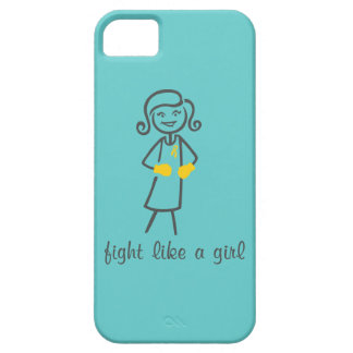 Childhood Cancer Fight Like A Girl (Retro) iPhone 5 Cover