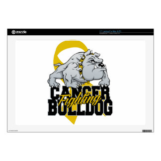 Childhood Cancer Fighting Bulldog Decals For Laptops