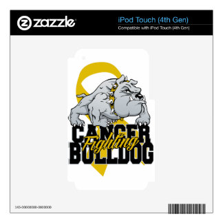 Childhood Cancer Fighting Bulldog iPod Touch 4G Decal