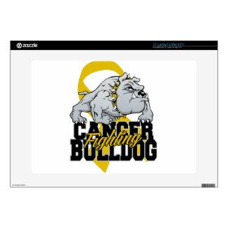 Childhood Cancer Fighting Bulldog Laptop Decal