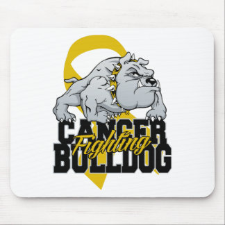Childhood Cancer Fighting Bulldog Mouse Pad