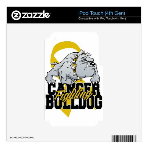 Childhood Cancer Fighting Bulldog Skin For iPod Touch 4G