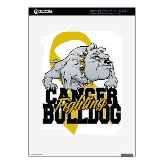 Childhood Cancer Fighting Bulldog Skins For iPad 3