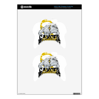 Childhood Cancer Fighting Bulldog Xbox 360 Controller Decal