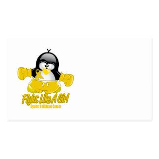Childhood Cancer Fighting Penguin Business Card