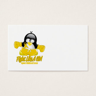 Childhood Cancer Fighting Penguin Business Card