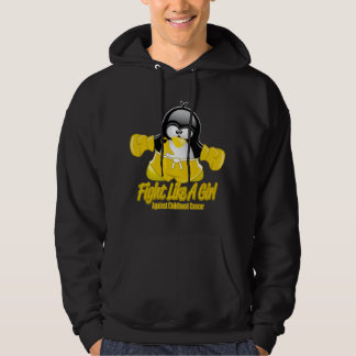 Childhood Cancer Fighting Penguin Hoodie