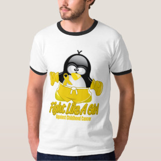 Childhood Cancer Fighting Penguin T-Shirt