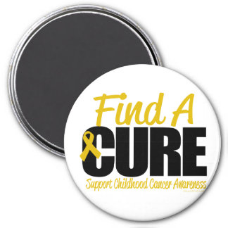 Childhood Cancer Find A Cure 3 Inch Round Magnet