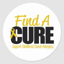 Childhood Cancer Find A Cure Classic Round Sticker