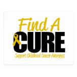 Childhood Cancer Find A Cure Postcard