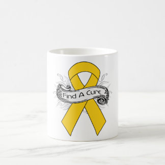 Childhood Cancer Find A Cure Ribbon Mugs