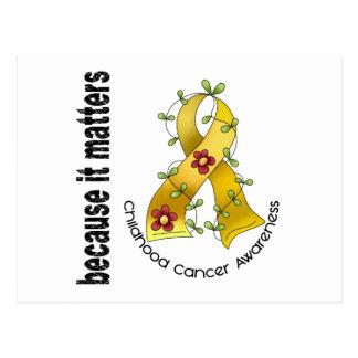Childhood Cancer Flower Ribbon 3 Postcard