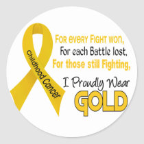Childhood Cancer For Every…..I Proudly Wear Gold 1 Classic Round Sticker