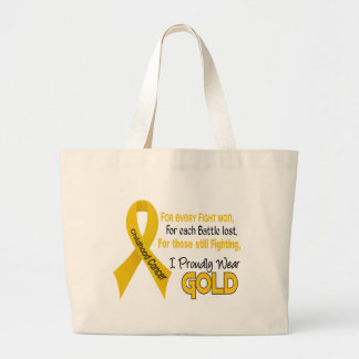Childhood Cancer For Every…..I Proudly Wear Gold 1 Large Tote Bag