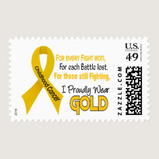 Childhood Cancer For Every…..I Proudly Wear Gold 1 Postage