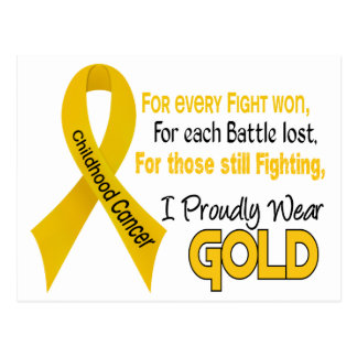 Childhood Cancer For Every…..I Proudly Wear Gold 1 Postcard