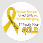 Childhood Cancer For Every…..I Proudly Wear Gold 1 Stickers