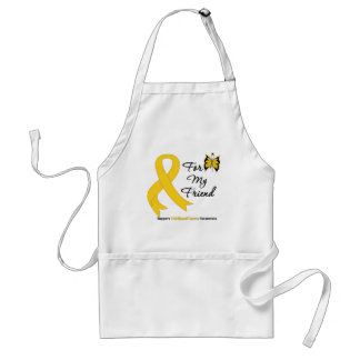 Childhood Cancer For My Friend Aprons