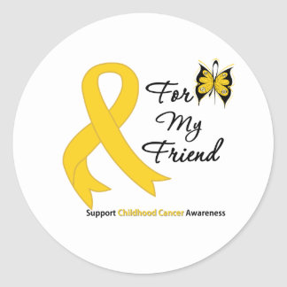 Childhood Cancer For My Friend Classic Round Sticker