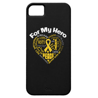 Childhood Cancer For My Hero iPhone 5 Case