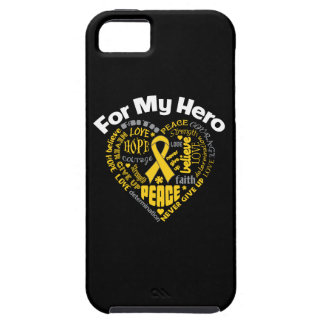 Childhood Cancer For My Hero iPhone 5 Cases