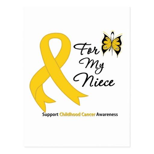 Childhood Cancer For My Niece Postcard