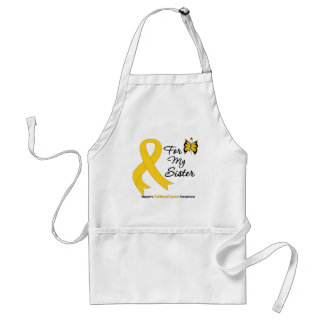 Childhood Cancer For My Sister Aprons