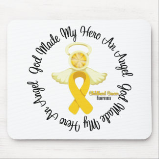 Childhood Cancer God Made My Hero An Angel Mouse Pad