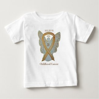 Childhood Cancer Gold Awareness Ribbon Angel Shirt
