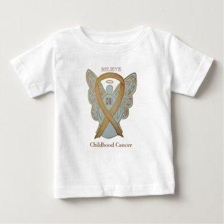 Childhood Cancer Gold Awareness Ribbon Angel Shirt