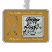 Childhood Cancer Gold Awareness Ribbon Ornament