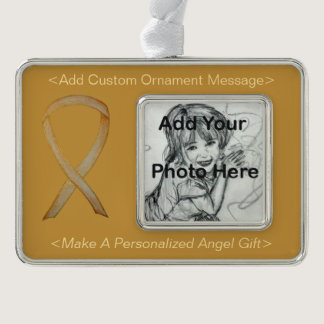 Childhood Cancer Gold Awareness Ribbon Ornament