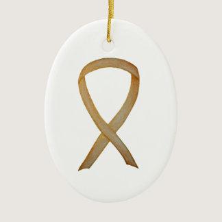Childhood Cancer Gold Awareness Ribbon Ornaments