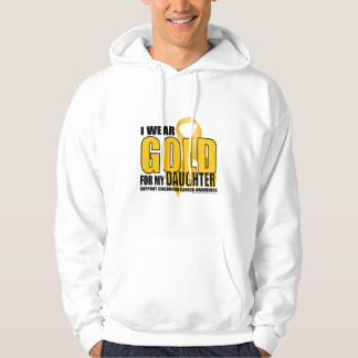 Childhood Cancer Gold for Daughter Hoodie