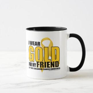 Childhood Cancer Gold for Friend Mug