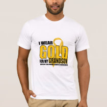 Childhood Cancer Gold for Grandson T-Shirt