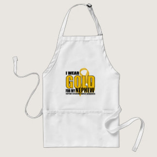 Childhood Cancer Gold for Nephew Adult Apron