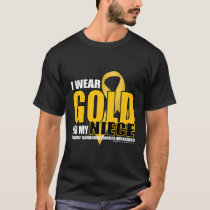 Childhood Cancer Gold for Niece T-Shirt